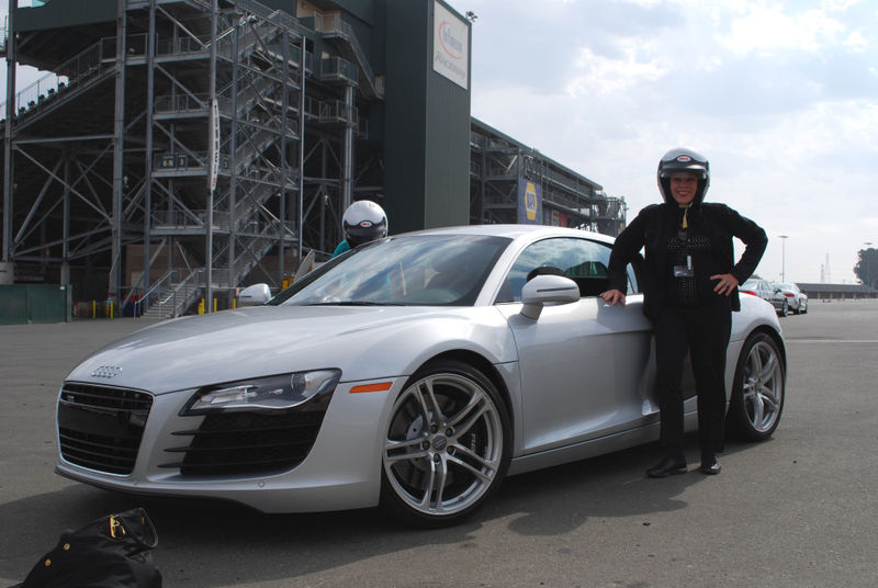 Judith gets ready to drive the R8