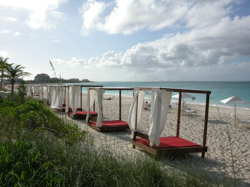 Grace Bay beach cabanas