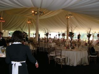 Inside of tent with Duq Club
